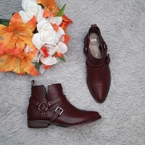Geèwawa Amarillo Red Leather Booties diff sizes